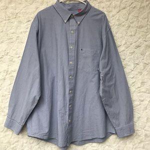 EUC IZOD Blue/ White Striped ButtonDown Sz2X
